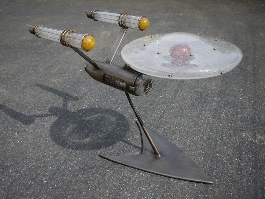 explorations-rik-allen-glass-metal-artist star-trek Enterprise