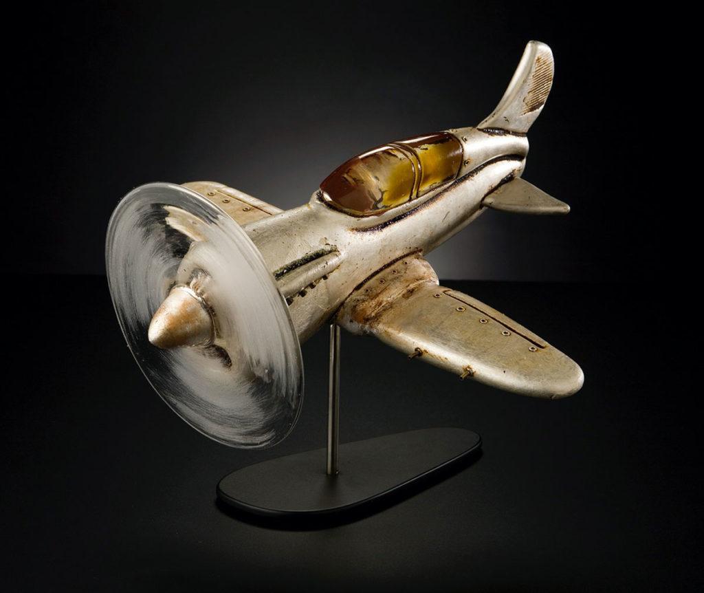 freddy-firehawk-rik-allen-glass-art-airplane